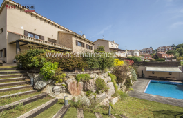 Beautiful luxury villa with sea views, located in a private urbanization in the charming village of Teià, on the Coast of Barcelona,