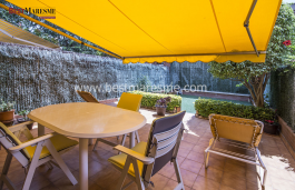 Own garden. The suite has access to a small terrace and on the upper floor a magnificent private sun terrace